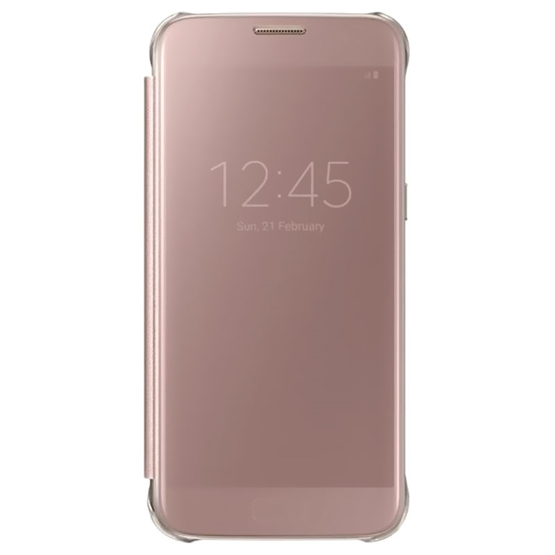 samsung galaxy s7 clear view cover ef zg930cz rose gold. Black Bedroom Furniture Sets. Home Design Ideas