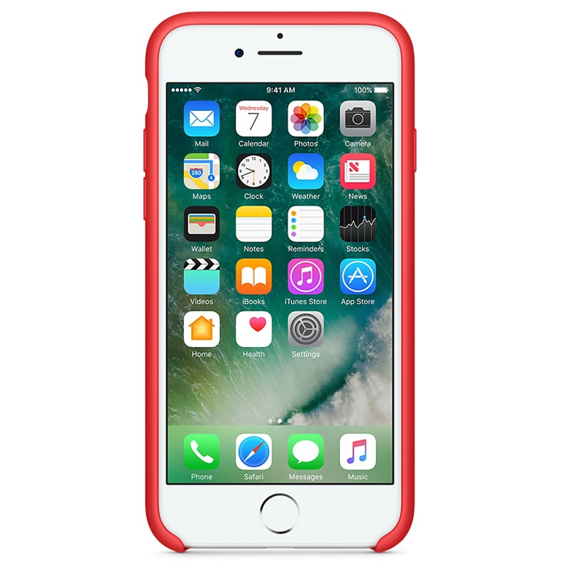 SILICONEN HOESJE IPHONE 7 ROOD