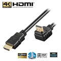 Goobay High Speed HDMI Kabel met Ethernet - Haakse 90°