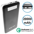 Green Cell PB93 Qualcomm QC 2.0 Powerbank - 20000mAh - Zwart