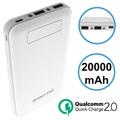Green Cell PB93 Qualcomm QC 2.0 Powerbank - 20000mAh - Wit