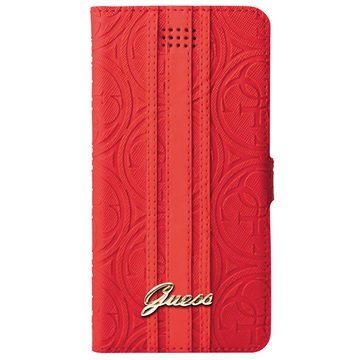 Guess Heritage Universele Wallet Case - XL - Rood