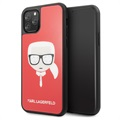 Karl Lagerfeld Double Layers Glitter iPhone 11 Pro Cover - Rood