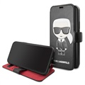 Karl Lagerfeld Ikonik Book iPhone 11 Flip Cover - Zwart