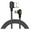 Mcdodo Night Elves 90-degree USB-C Kabel - 1.8m - Titanium Zwart