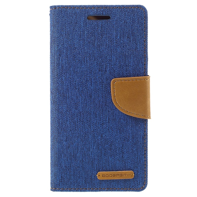 iphone hoesje mercury goospery canvas diary blauw