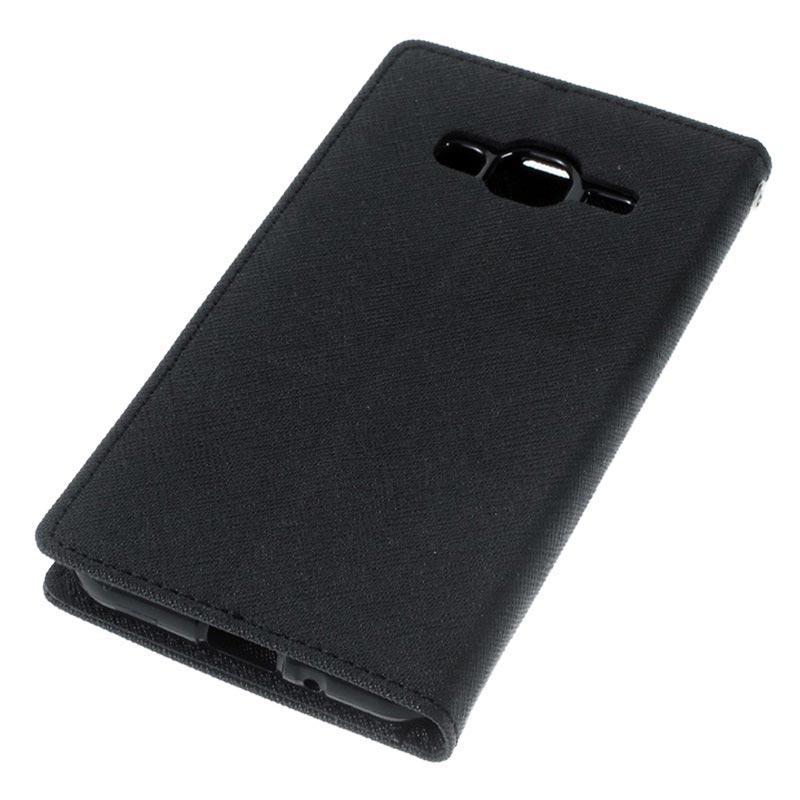 Toile Journal Samsung Galaxy J3 / J3 (2016) - Noir 5cePc