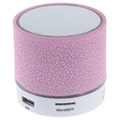 Mini Bluetooth Speaker met Microfoon & LED Licht A9 - Gebroken Roze