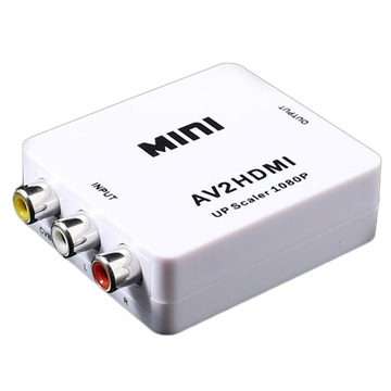Mini Full Hd 1080p Rca Av / Hdmi-Converteerder - Wit