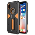 iPhone X Nillkin Defender II Series Hybrid Case - Oranje / Zwart