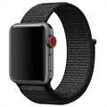 Apple Watch Series 4/3/2/1 Nylon Bandje - 44mm, 42mm - Zwart