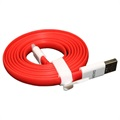 OnePlus USB Type-C Kabel - Rood / Wit - 1,5m