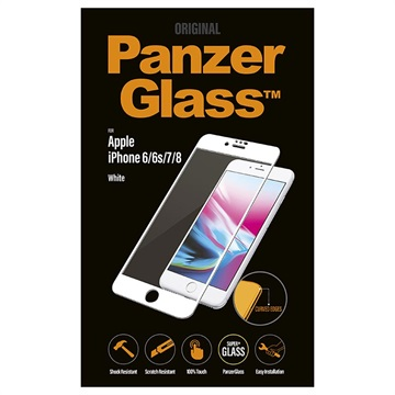 PanzerGlass Premium Curved iPhone 6/6S/7/8 Screenprotector - Wit