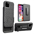 Patterned Series iPhone 11 Pro Max Hoesje met Riemclip - Zwart