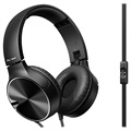 Pioneer SE-MJ722T-B Foldable Over-ear Headset - 3.5mm - Zwart
