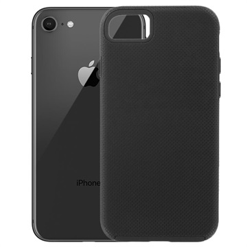 Prio Double Shell iPhone 7/8/SE (2020) Hybrid Case - Zwart