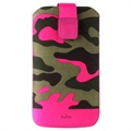 Puro Camou Universele Pull Tab Tas - L - Camouflage - Roze