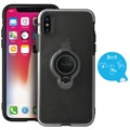 iPhone X Puro Magnet Ring Cover - Zwart