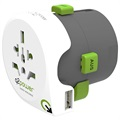 Q2Power QDAPTER Universele USB Wereld Reisadapter - 10A