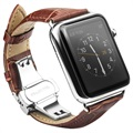 Apple Watch Qialino Leder Polsband - 42mm - Bruin