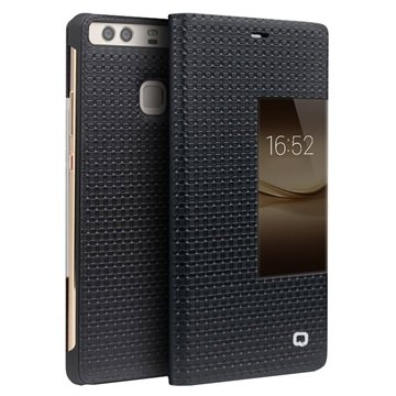 classic fit 6a835 9957d Huawei P9 Plus Qialino Smart View Flip Cover - Grid Texture