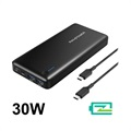 RAVPower 20100mAh PD Type-C Powerbank / USB Hub - 30W
