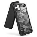 Ringke Fusion X Design iPhone 11 Hoesje - Camouflage / Zwart