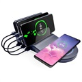 Saii PowerStand Docking Station met Qi Wireless Charger - Zwart