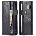 Samsung Galaxy S7 Edge Saii Retro Multi-slot Wallet Case - Zwart
