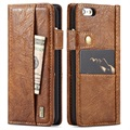 iPhone 6/6S Saii Retro Multi-Slot Wallet Case - Bruin