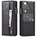 iPhone 6 Plus/6S Plus Saii Retro Multi-slot Wallet Hoesje