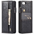 iPhone 7 / iPhone 8 Saii Retro Multi-slot Wallet Hoesje - Zwart