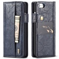iPhone 7 / iPhone 8 Saii Retro Multi-slot Wallet Hoesje - Blauw