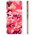 Samsung Galaxy A40 TPU Case - Roze Camouflage