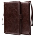 Smart Flip Cover met Hand Strap - iPad 9.7 2018, iPad Air 2, iPad Air - Coffee