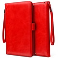 Smart Flip Cover met Hand Strap - iPad 9.7 2018, iPad Air 2, iPad Air - Rood