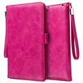 iPad Mini 3, iPad Mini 4 Smart Flip Cover met Hand Strap - Hot Pink