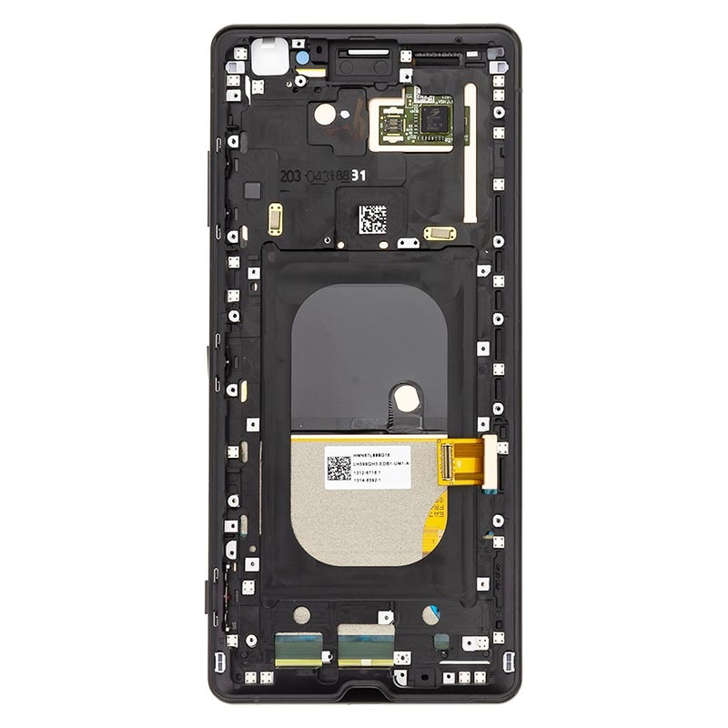 Sony Xperia XZ3 Voorzijde Cover & LCD Display 1315-5026 - Zwart