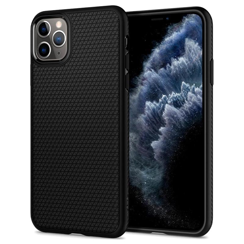 Spigen Liquid Air iPhone 11 Pro Max TPU Case - Zwart