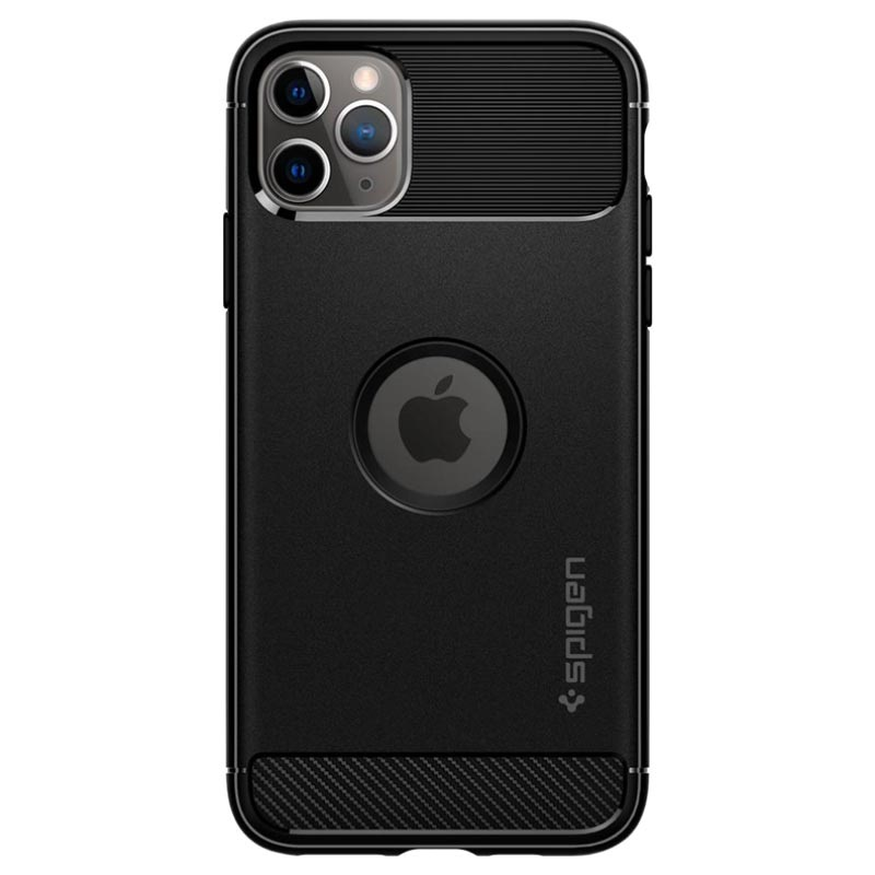 Spigen Rugged Armor iPhone 11 Pro Cover - Zwart