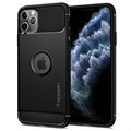 Spigen Rugged Armor iPhone 11 Pro Max TPU Case - Zwart