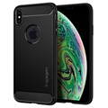 Spigen Rugged Armor iPhone XS Max Cover - Mat Zwart