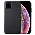Ultra Dunne iPhone 11 Pro Max TPU Case - Carbon Fiber - Zwart