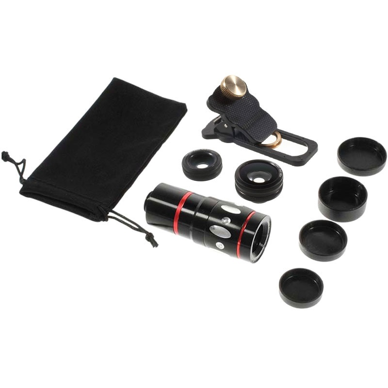 Universal 4 in 1 Clip Camera Lens Set
