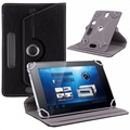 "Universele Rotary Folio Case voor Tablets - 7"" - Zwart"