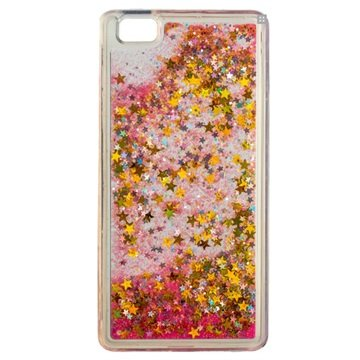Huawei P8 Lite Urban Iphoria Glamour Cover - Goud / Roze