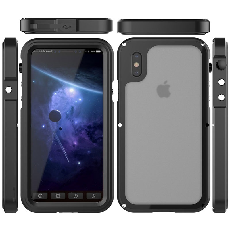 Iphone X Viking Valbestendig Waterdicht Hoesje Zwart
