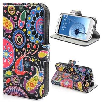 Samsung galaxy s3 i9300 wallet leren hoesje kleurrijke for Case pc colorati