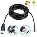 Android, PC Waterbestendige 8mm USB Endoscope Camera AN99 - 10m - Zwart
