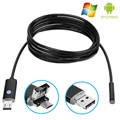 Android, PC Waterbestendig 8mm USB Endoscope Camera AN99 - 2m - Zwart